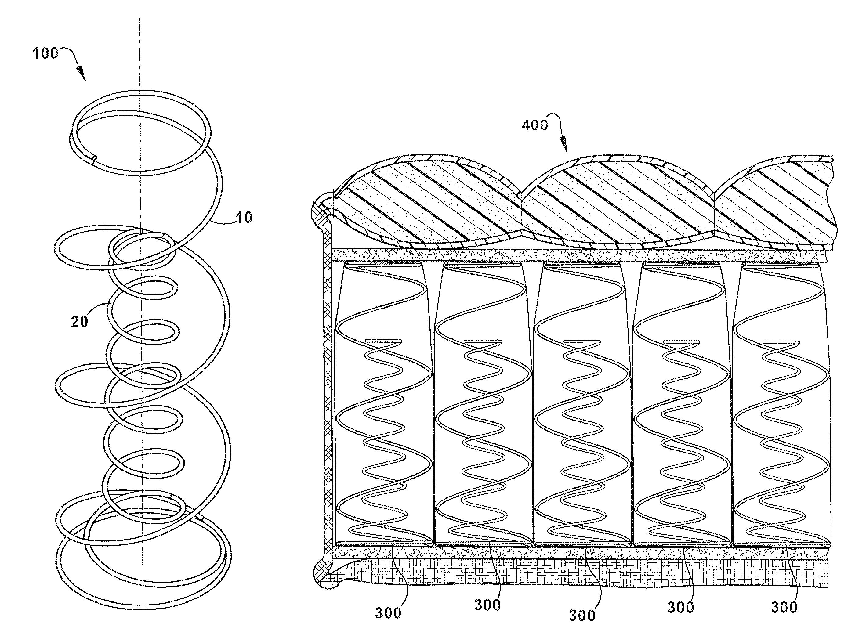 Sealy coil-in-coil patent drawing
