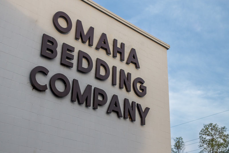 Omaha Bedding Company sign