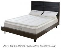 Nature S Sleep Pillow Top Gel Memory Foam Mattress
